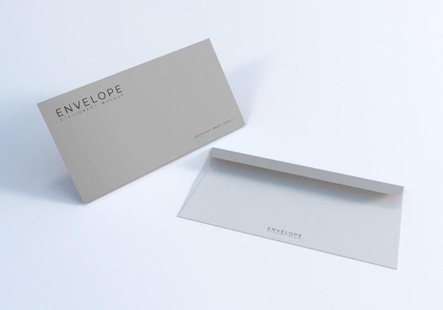 Modelo de design de maquete de envelope de escritório