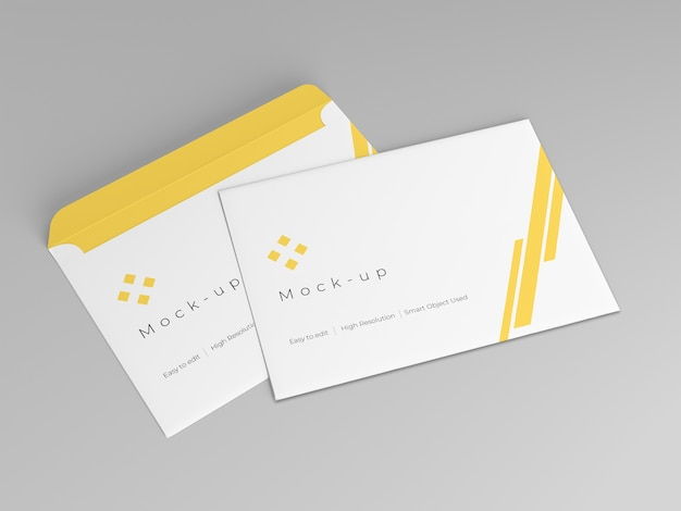 Modelo de design de maquete de envelope