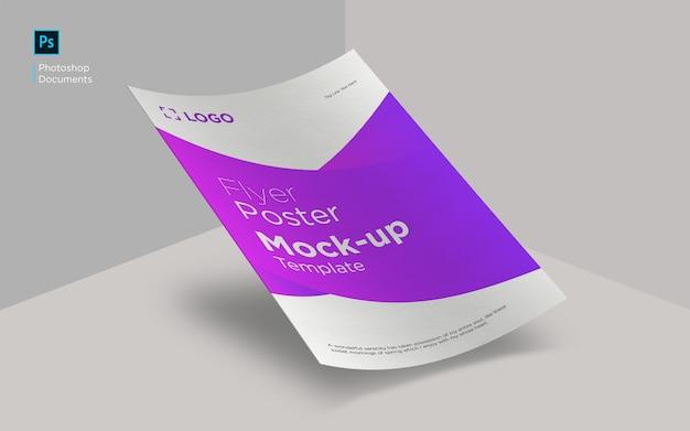 Modelo de design de maquete de folheto de curva