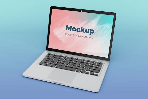 Modelo de design de maquete de tela de laptop personalizável