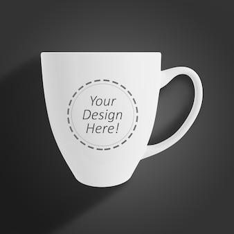 Modelo de design de maquete editável para branding showcase de uma caneca de café