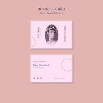 Modelo de design de neo art em pastel de cartão de visita