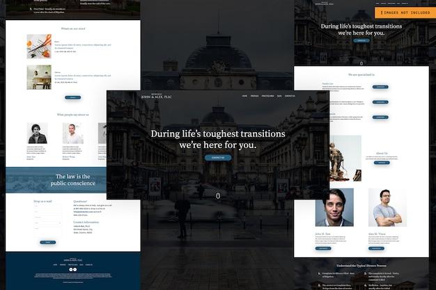 Modelo de design de página da web multiuso