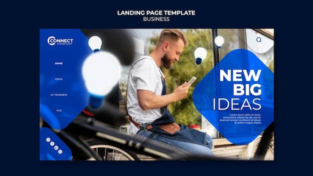 Modelo de design de página de destino comercial