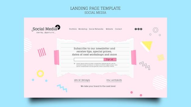 Modelo de design de página de destino de agência de marketing de mídia social Psd grátis