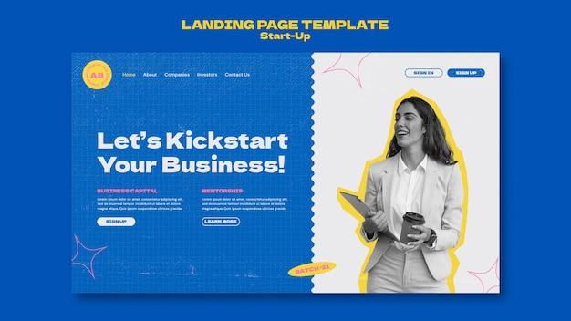 Modelo de design de página de destino de inicialização