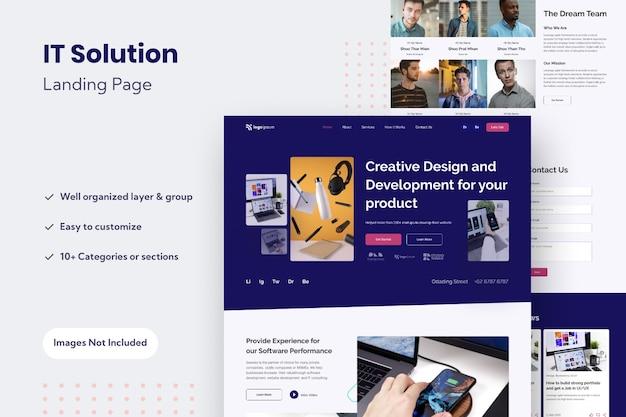 Modelo de design de página de destino de site multifuncional