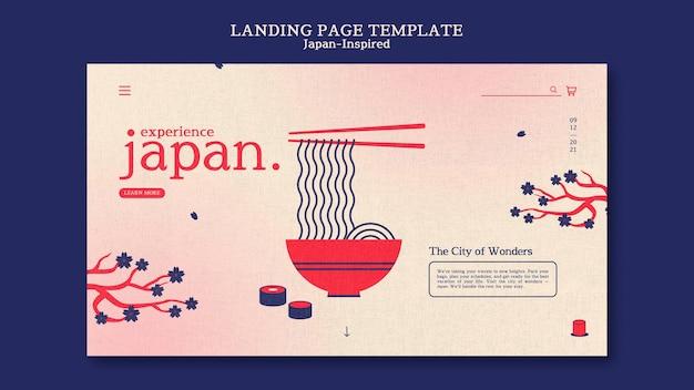 Modelo de design de página de destino inspirado no japão