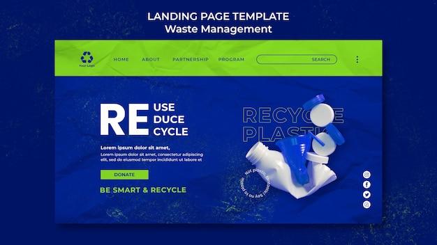 Modelo de design de página de destino para gerenciamento de resíduos