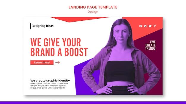 Modelo de design de página de destino