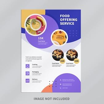 Modelo de design de panfleto de alimentos Psd Premium
