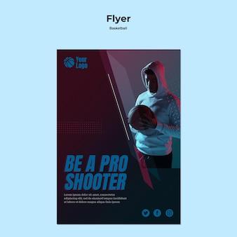 Modelo de design de panfleto de basquete