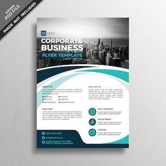 Modelo de design de panfleto de negócio abstrato moderno