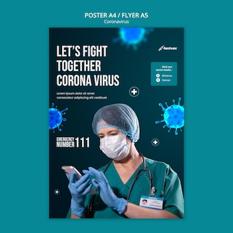 Modelo de design de pôster coronavirus