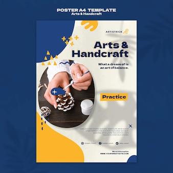 Modelo de design de pôster de artes e artesanato