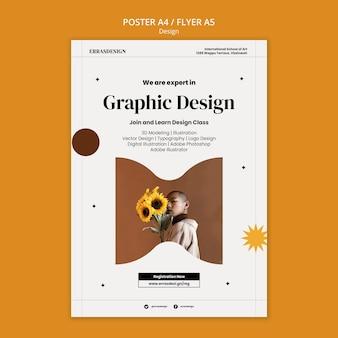 Modelo de design de pôster de design