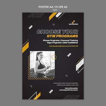 Modelo de design de pôster de ginástica