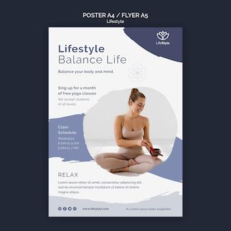 Modelo de design de pôster de ioga