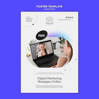 Modelo de design de pôster de marketing