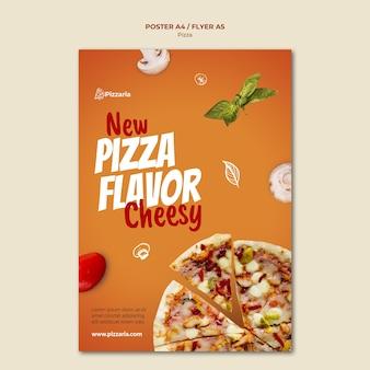 Modelo de design de pôster de pizza