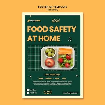 Modelo de design de pôster de segurança alimentar
