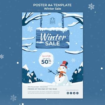 Modelo de design de pôster de venda de inverno