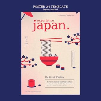 Modelo de design de pôster inspirado no japão