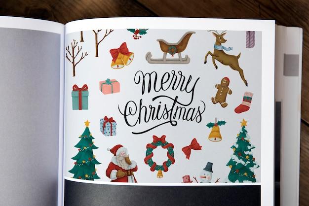 Modelo de design de saudação de feriado de natal