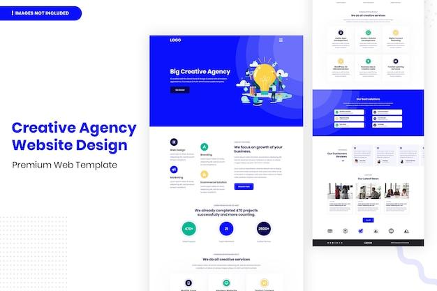 Modelo de design de site de agência criativa