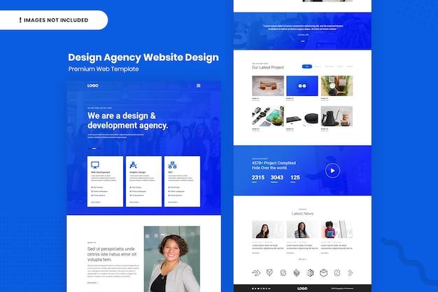 Modelo de design de site de agência de design
