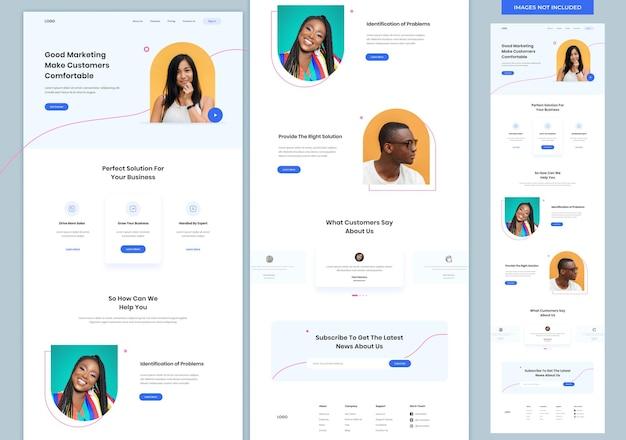 Modelo de design de site de agência de marketing