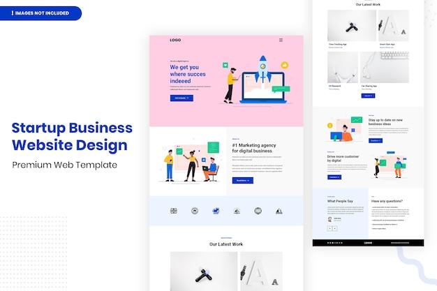 Modelo de design de site de negócios para startups