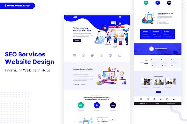 Modelo de design de site de serviços de seo