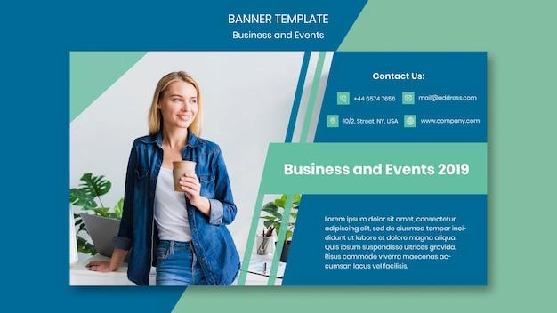 Modelo de design do banner para evento de negócios