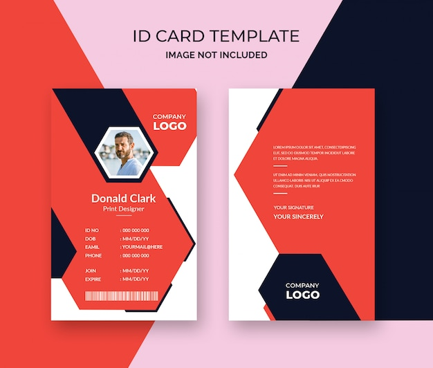 Modelo de design elegante cartão de identificação