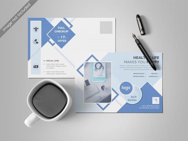 Modelo de design mínimo de cartão postal