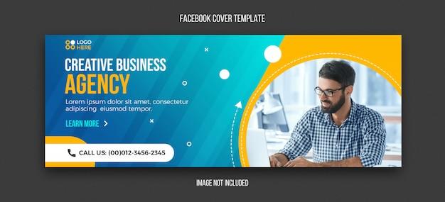 Modelo de design moderno agência facebook capa