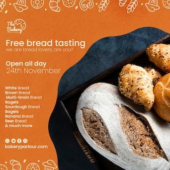 Modelo de design para promoção de produtos de pão