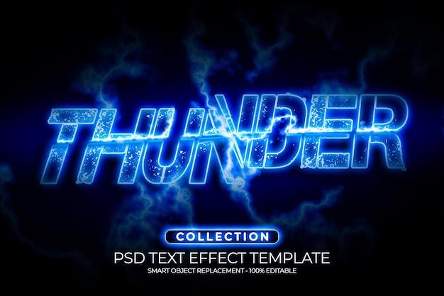 Modelo de design personalizado de efeito de texto thunder slice