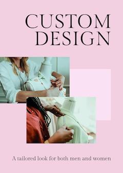 Modelo de design personalizado psd para negócios da moda