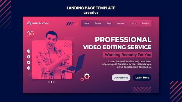 Modelo de edição de vídeo da web
