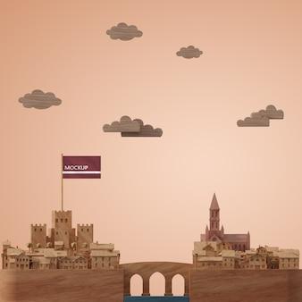 Modelo de edifícios de cidades 3d