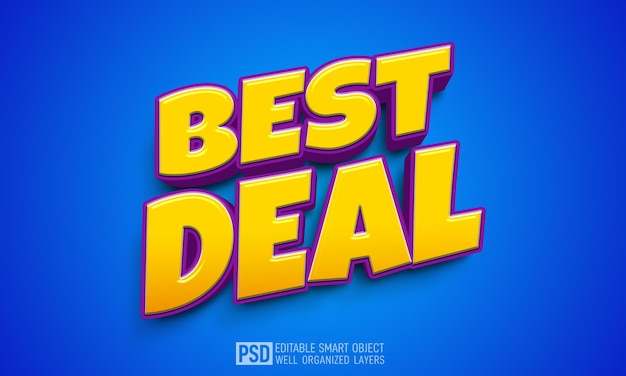 Modelo de efeito de estilo de texto 3d best deal