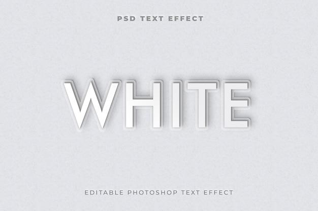 Modelo de efeito de estilo de texto 3d branco