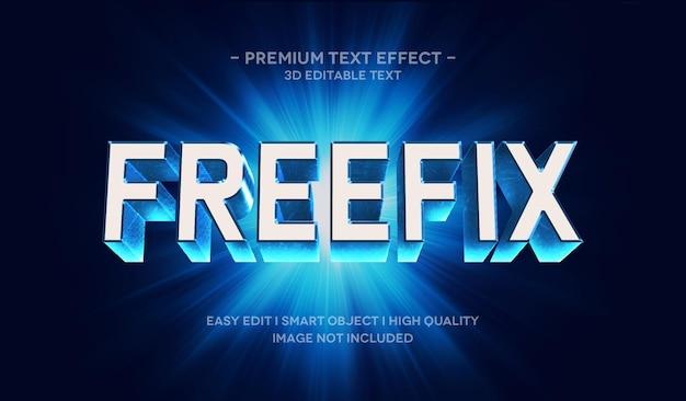 Modelo de efeito de estilo de texto 3d freefix