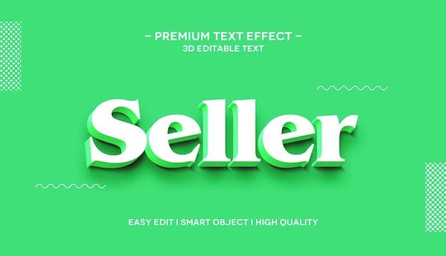 Modelo de efeito de estilo de texto 3d para vendedor