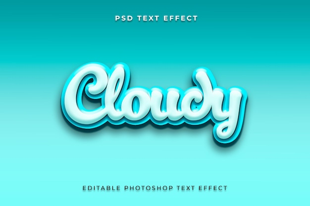 Modelo de efeito de estilo de texto 3d turvo
