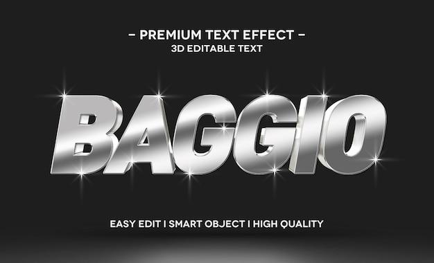 Modelo de efeito de estilo de texto baggio 3d