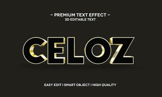 Modelo de efeito de estilo de texto celoz 3d