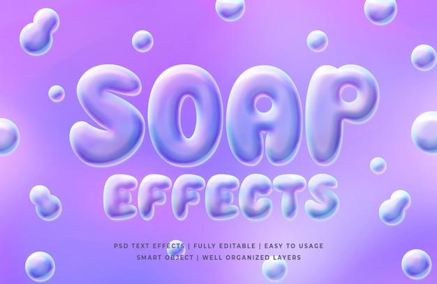 Modelo de efeito de estilo de texto de bolhas de sabão